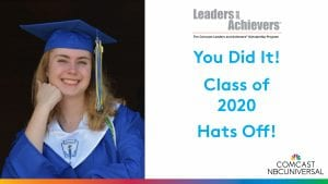 Class of 2020 poster for Leaders and Achievers winners