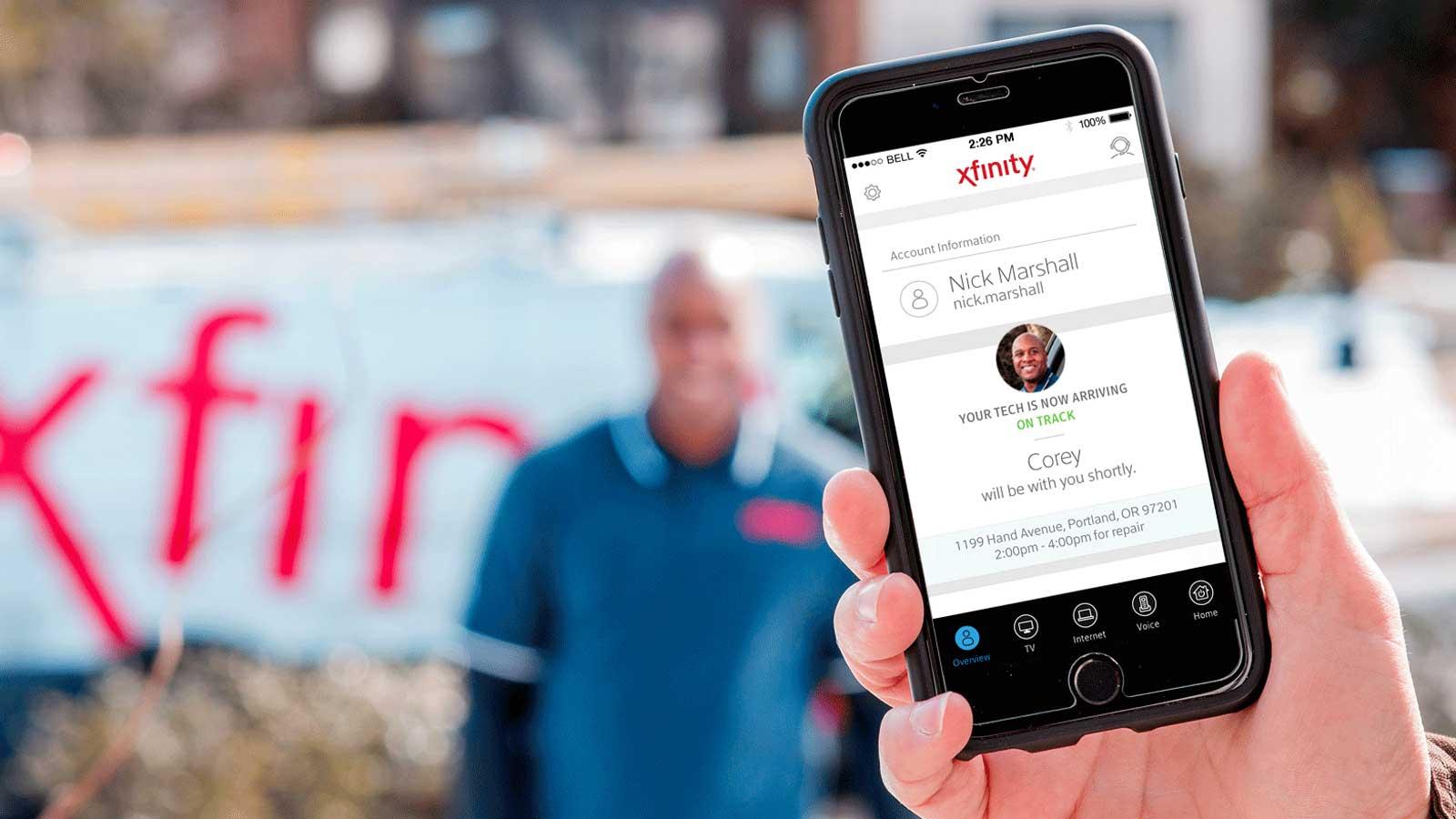 Tech ETA app shown on mobile device