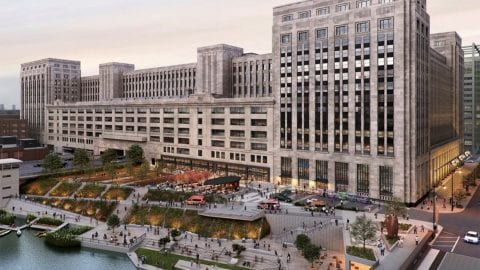 Exterior rendering of The Old Post Office.