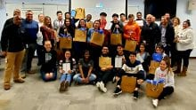 "Participants from Big Brothers Big Sisters of Metropolitan Chicago's ""Beyond School Walls"" program."