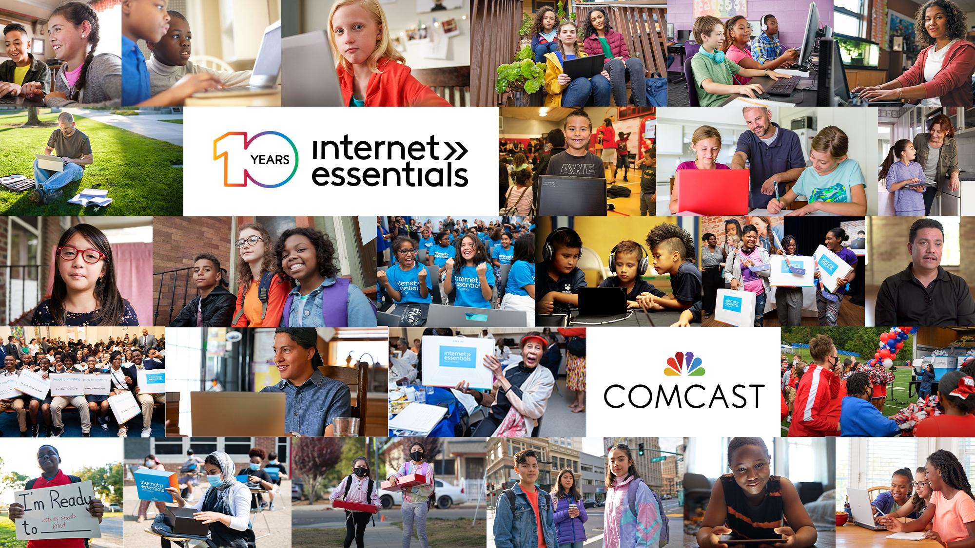 Comcast celebrates Internet Essential's 10 year anniversary.