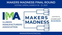 Makers Madness final round announcement.