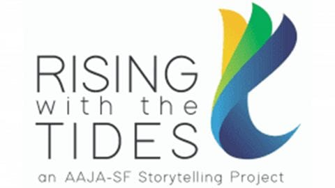 Rising with the Tides logo.