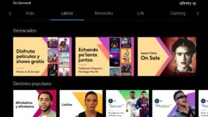 The Hispanic Heritage month hub on Xfinity X1