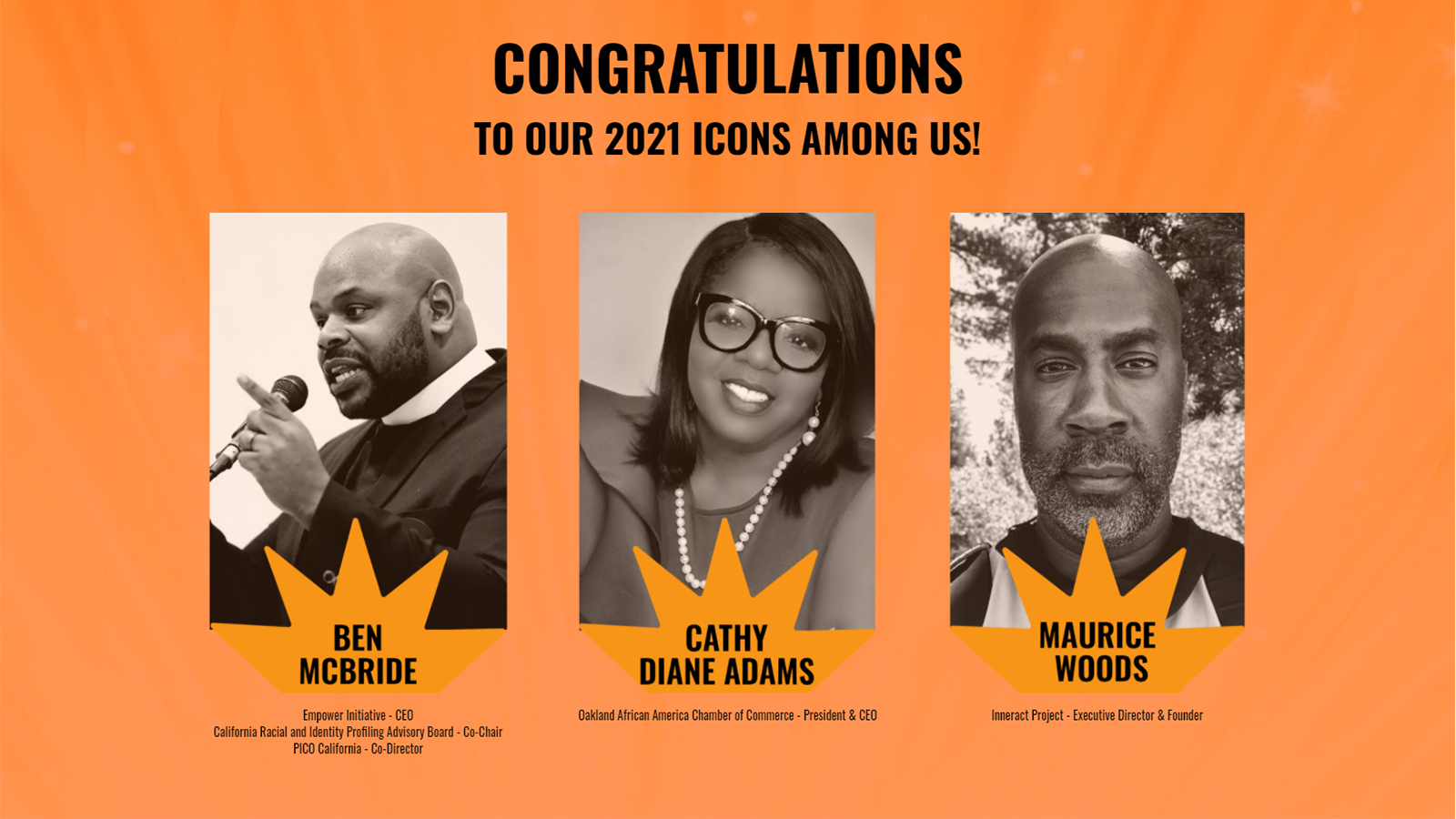 "Comcast honors three ""Icons Among Us"""