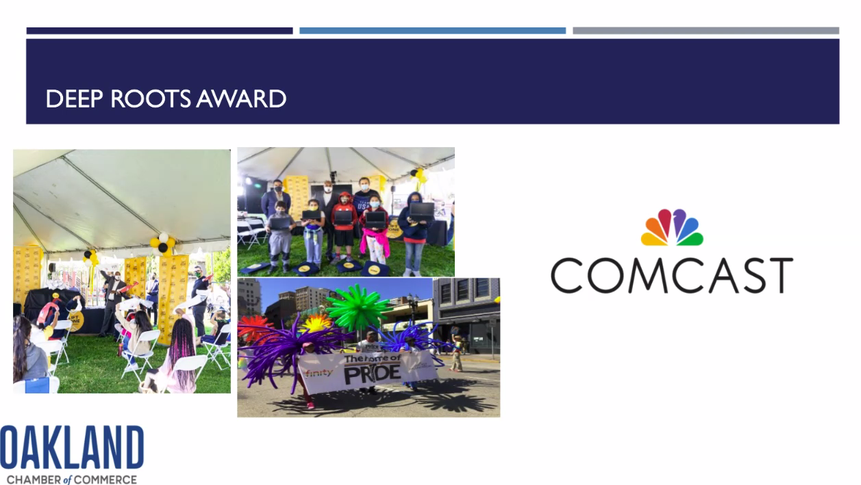 Oakland Chamber of Commerce Awards Comcast the Deep Roots Award for Long-Standing Commitment to the Oakland Community