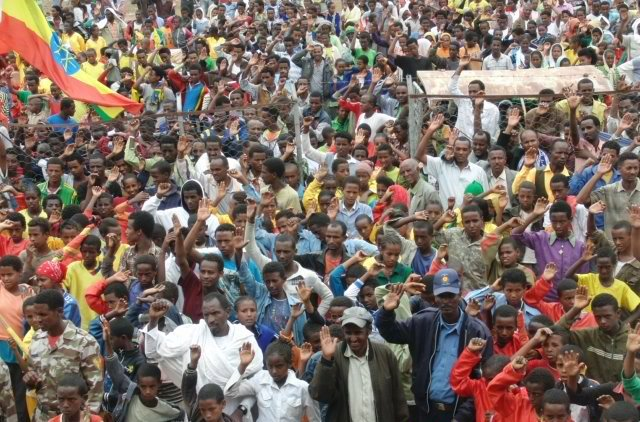 Crowd at the 70th anniversary of Queen Sheba School in Ethiopia
