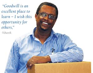 screenshot of goodwill announcement webpage