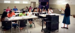 UNCF students in session in Marysville