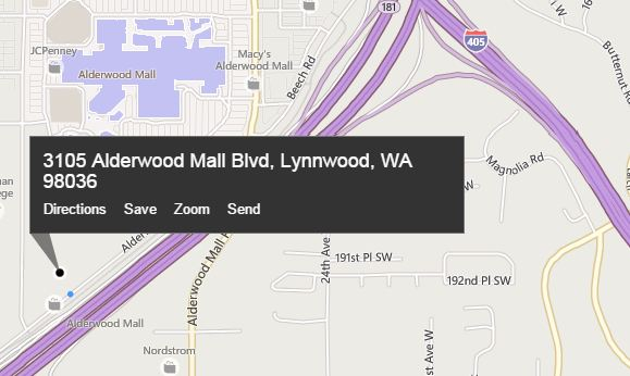 screenshot of map location of the new store