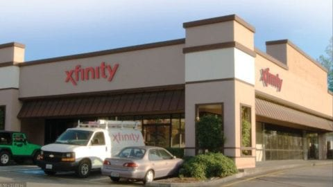 Artist's rendition of the new, larger Xfinity Store in Lynnwood at 3105 Alderwood Mall Blvd.