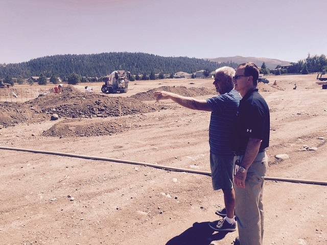 two men at construction site