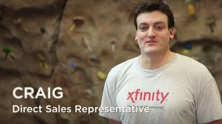 screenshot from Comcast recruiting video