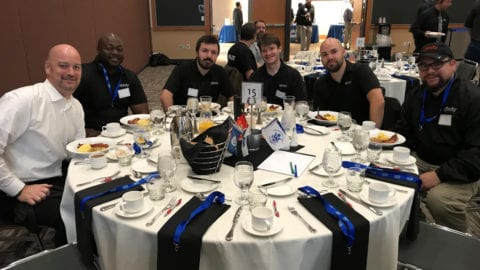 Comcast employees and Veterans at the 2018 VetNet Veterans Day Breakfast
