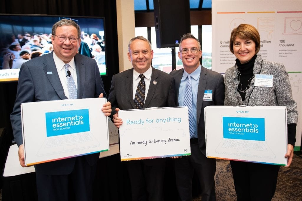 Spokane Mayor David Condon, Congresswoman Cathy McMorris Rodgers and Comcast at Internet Essentials Washington state event