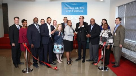 Ribbon cutting at Missouri City FFO