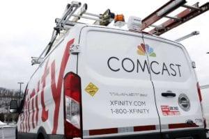An Comcast Xfinity technician van