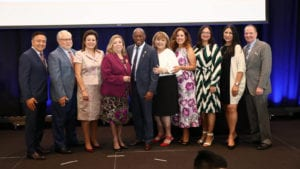 Presenters and honorees onstage at the fourth-annual Comcast Hispanic Hero Awards.