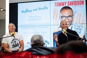 Comedian Tommy Davidson discusses new book, 'Living in Color' at Sugarland Xfinity Store