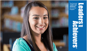 A Leaders and Achievers® Scholarship Program recipient