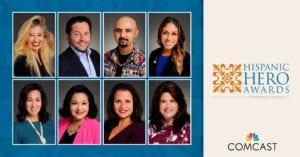 Collage of Hispanic Hero award winners
