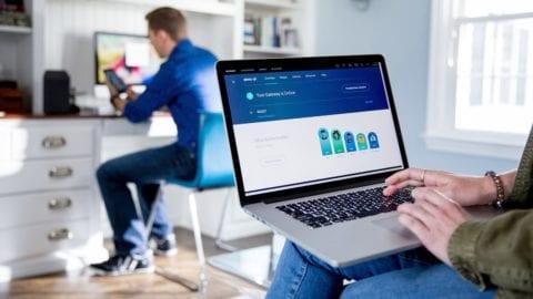 Xfinity xFi contol app displayed on a laptop.