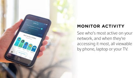 The Xfinity xFi activity monitor displayed on a smartphone.