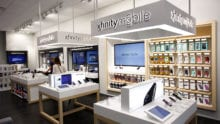 Interior of an Xfinity store.