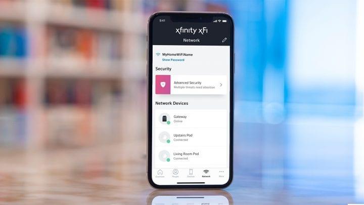smartphone showing xFi app