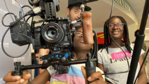 """Members of the Boys & Girls Clubs of Portland Metro participated in Portland Film Festival's """"Future Filmmakers"""" workshop."""
