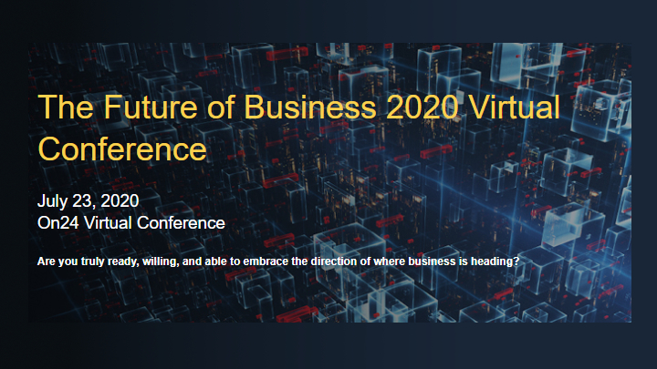 Comcast Business Virtual Conference invitation poster