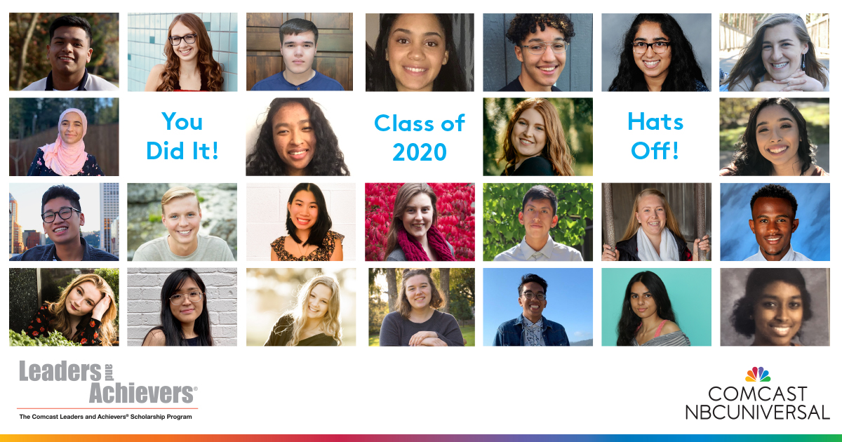 Collage of the class of 2020 participants in the Leaders and Achievers program