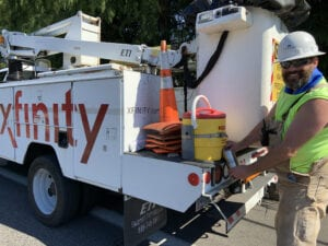 Record-Breaking Temps All in a Day's Work for Comcast Techs + Tips for Customers