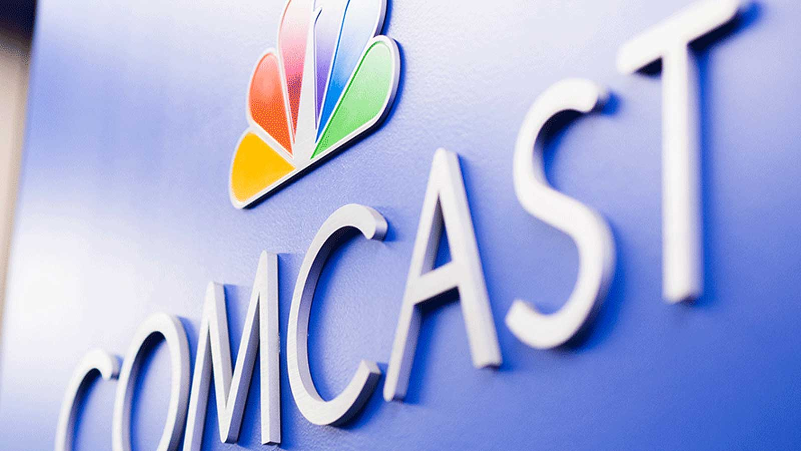 Comcast signage on wall