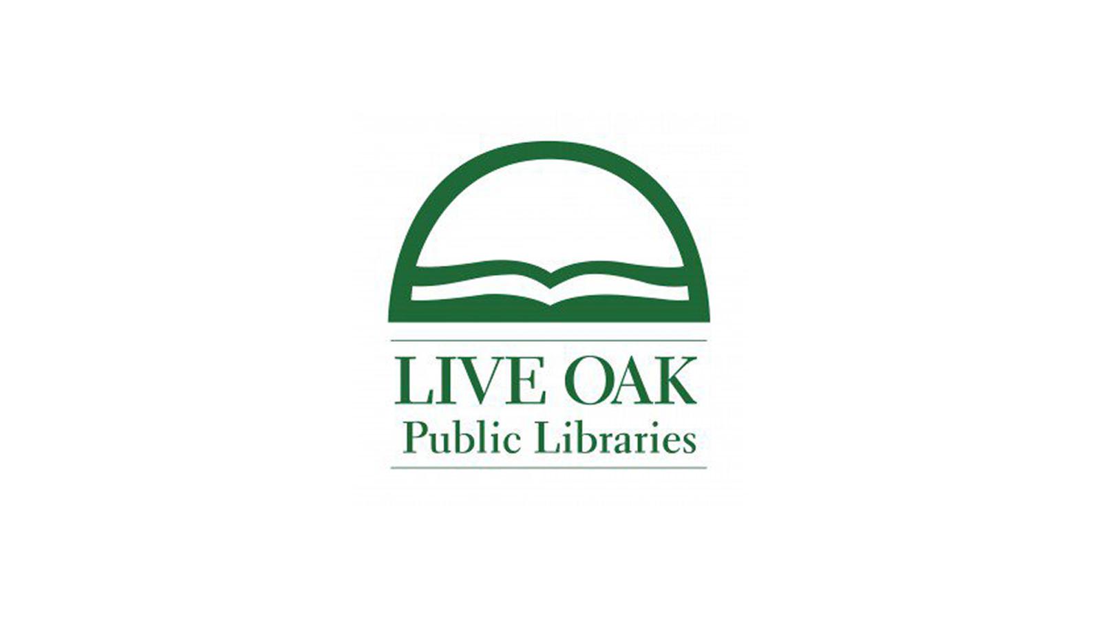 The Live Oak Public Libraries logo.