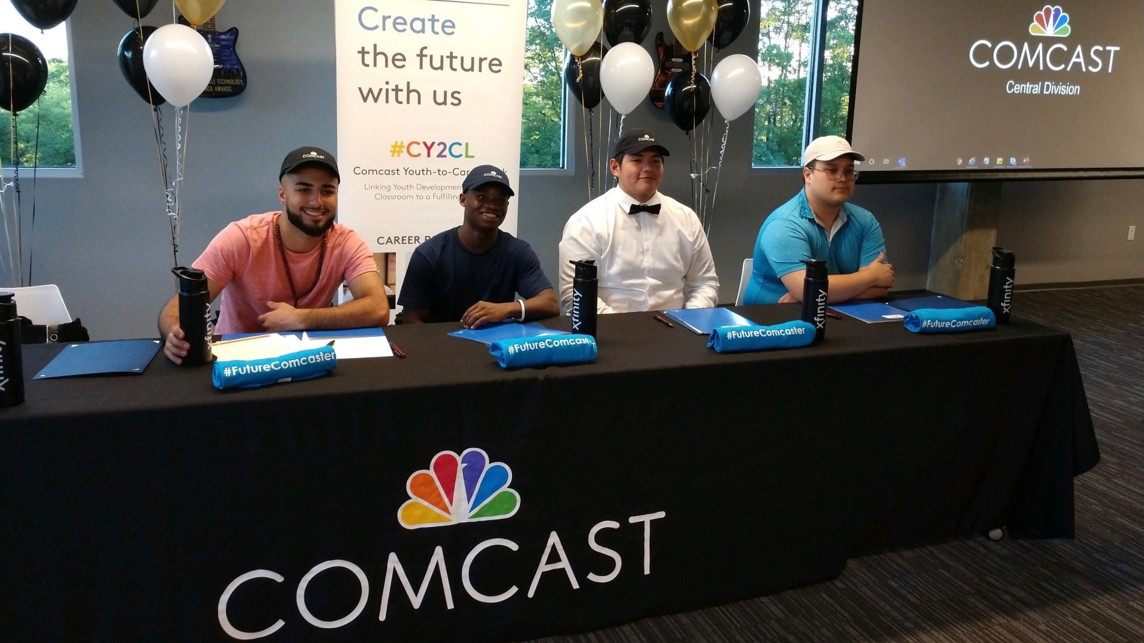 Comcast youth at a panal