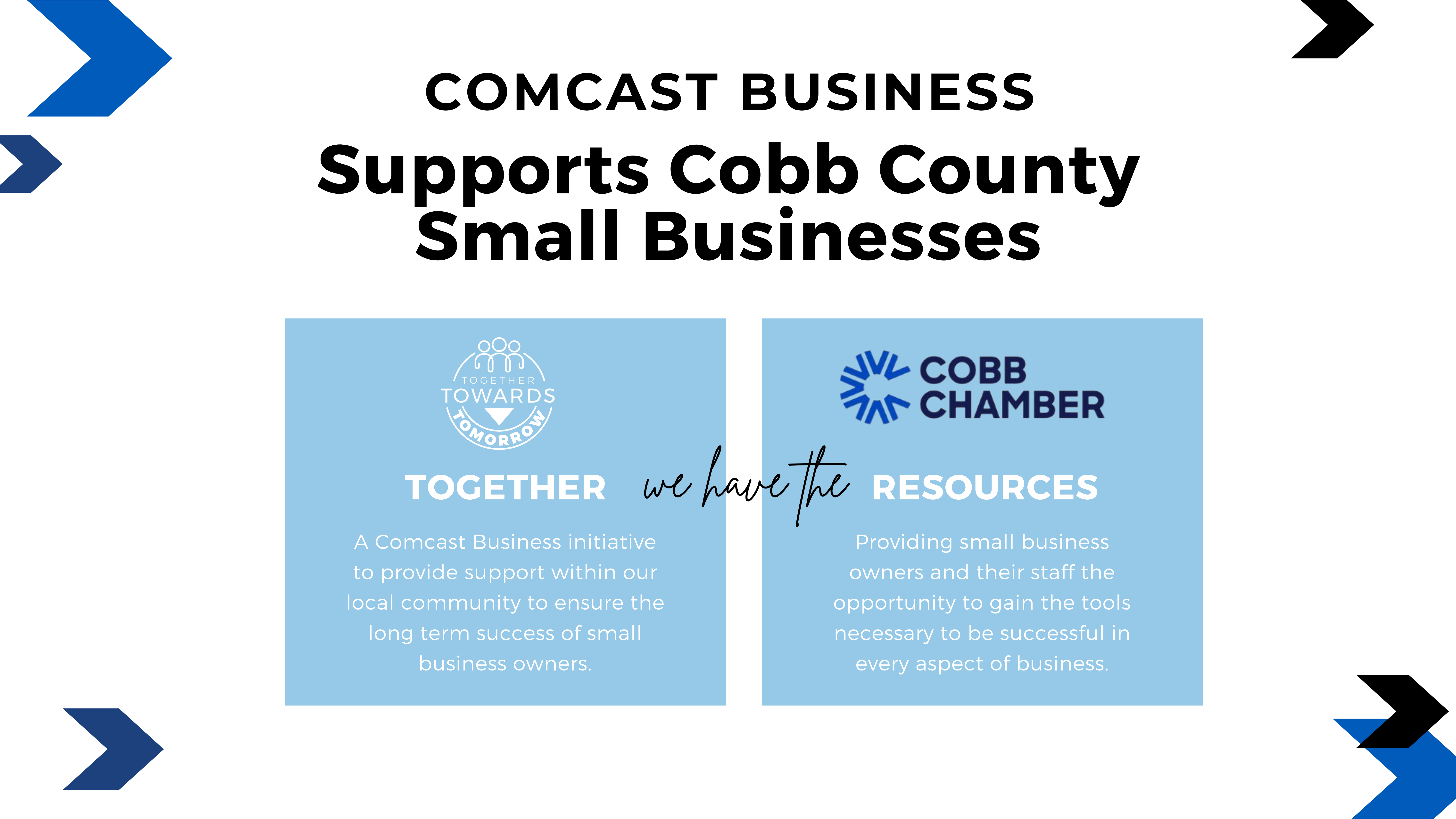 Comcast Business and Cobb Chamber of Commerce Partner to Support Small Businesses Impacted by Pandemic