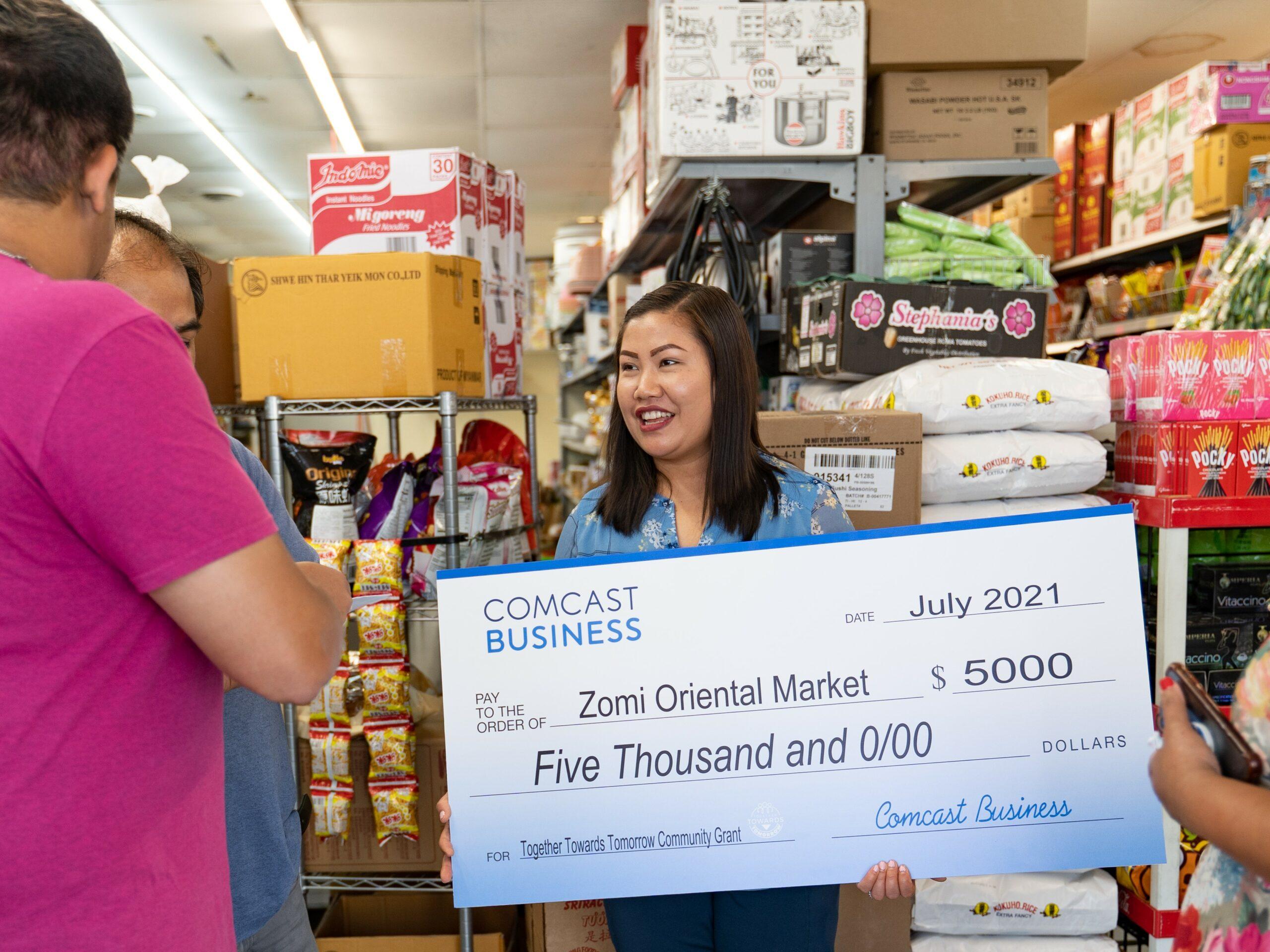 Comcast Business Awards $5,000 Grant to Zomi Oriental Market