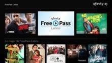 The FreePass Latino hub on Xfinity.