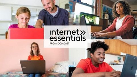 Internet Essentials From Comcast picture collage.