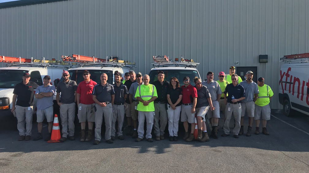A group of Comcast's Keystone Region technicians.