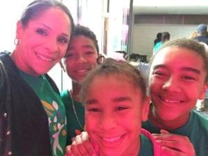 Loren Hudson with her three children