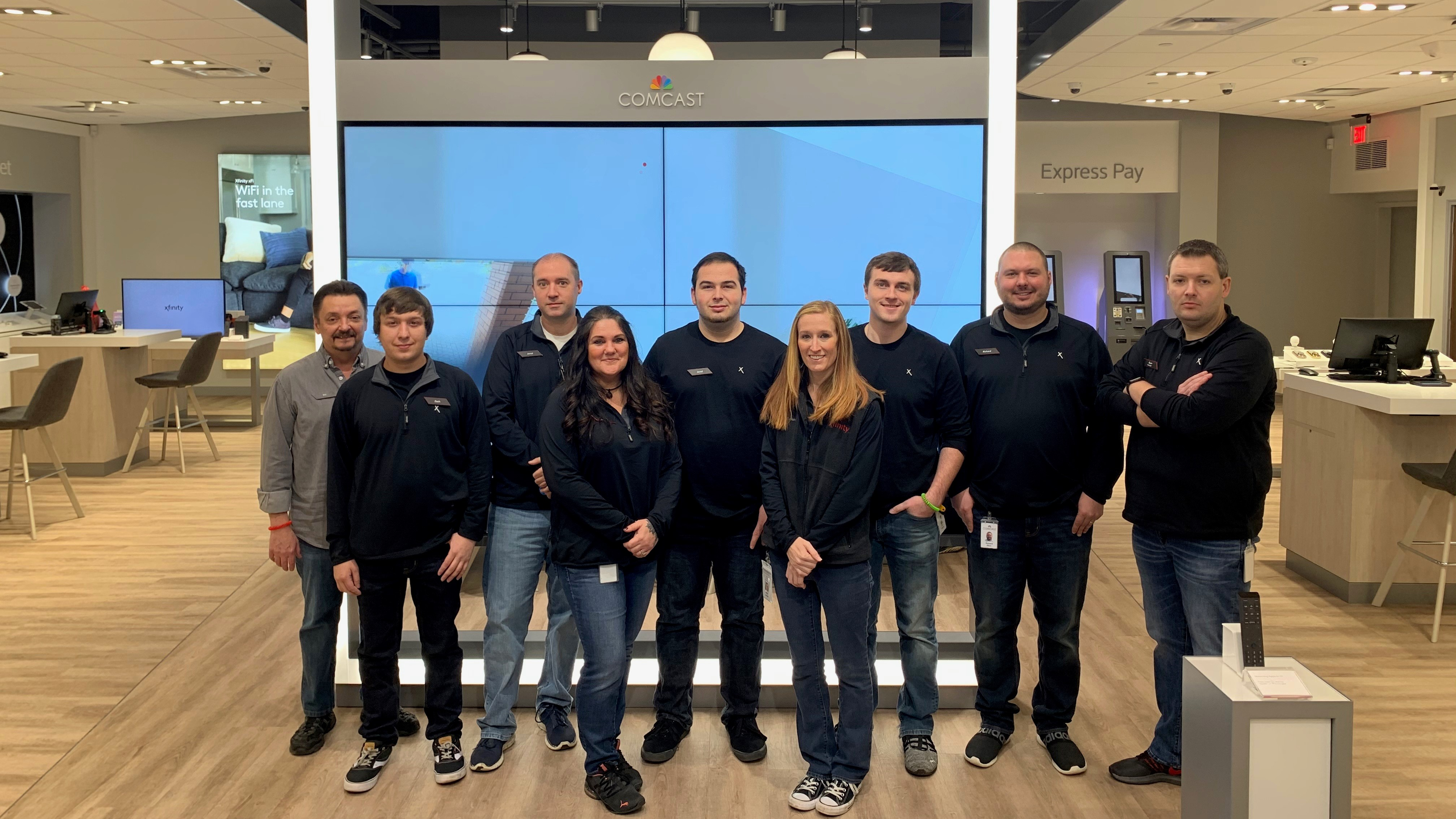 Comcast employees inside new Xfinity store
