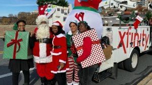 Comcast employees at a parade.