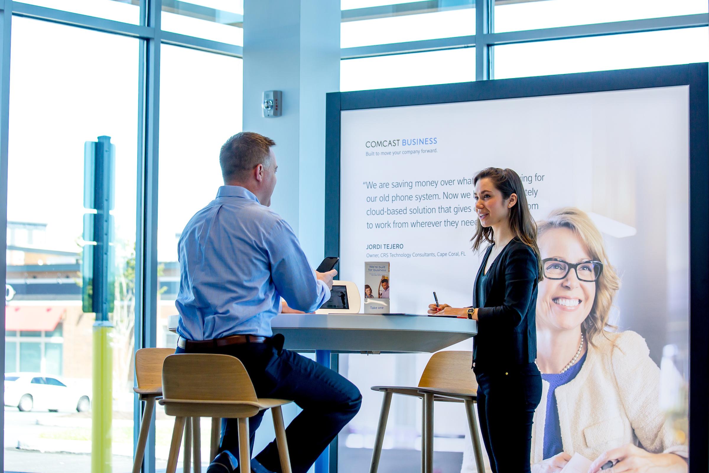 Comcast Business consultation inside store