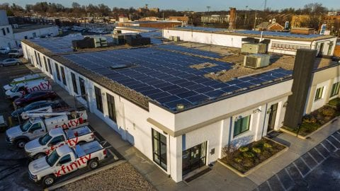 The new Solar System Installation for Washington, D.C., Facility