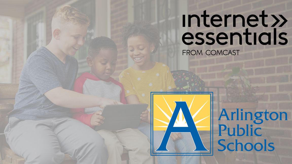 The Internet Essentials and Arlington Public Schools logos