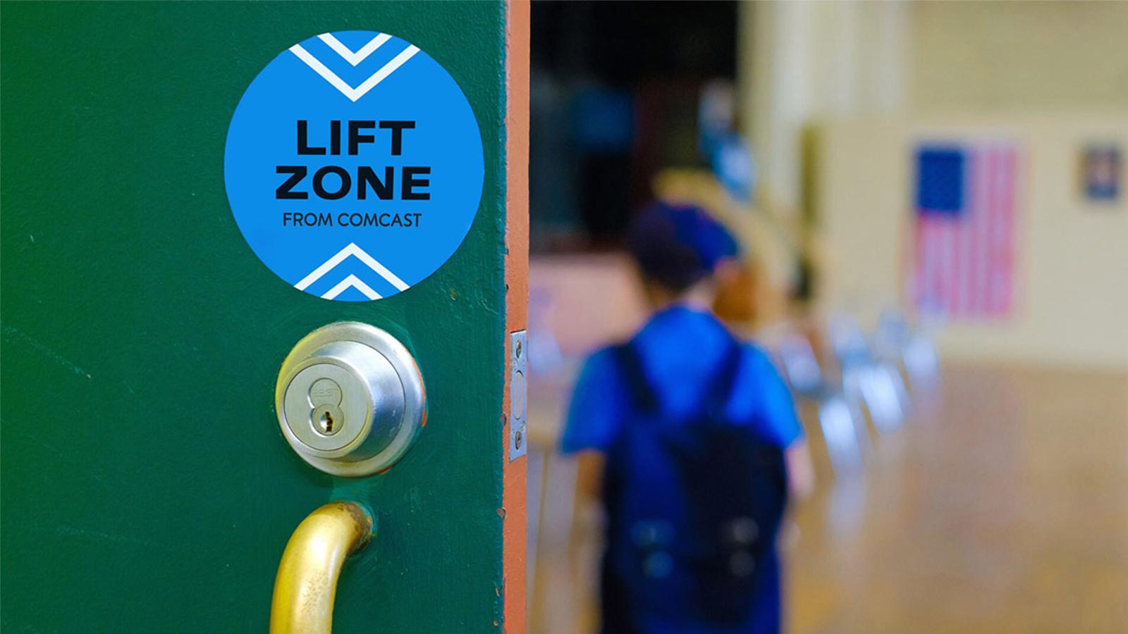 Comcast Lift Zone.