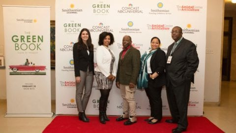 Attendees at a special screening of 'The Green Book: Guide to Freedom'.