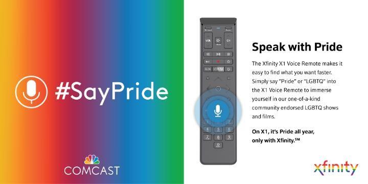 #SayPride in X1 voice remote